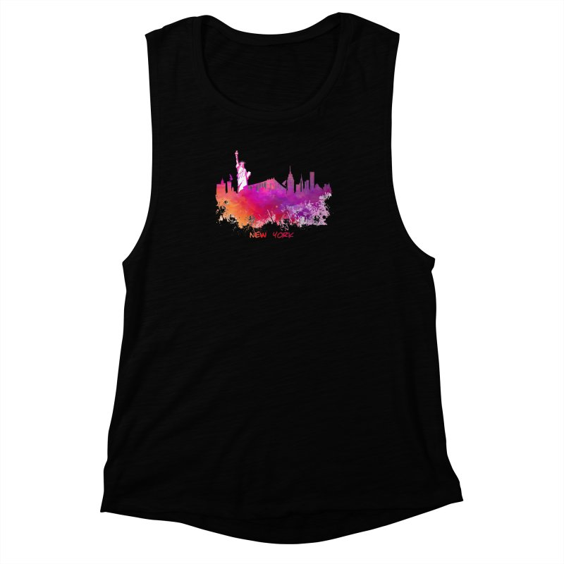 New York Women's Muscle Tank by jbjart Artist Shop
