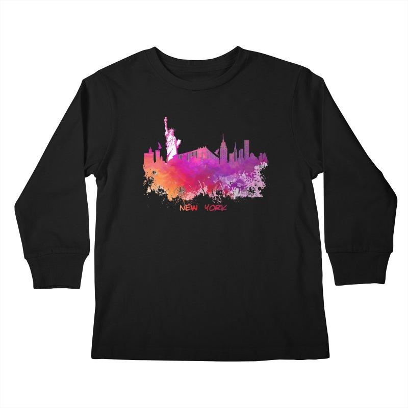 New York Kids Longsleeve T-Shirt by jbjart Artist Shop