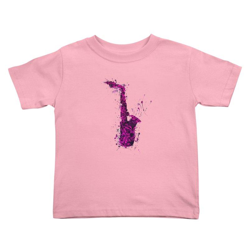 Saxophone Kids Toddler T-Shirt by jbjart Artist Shop