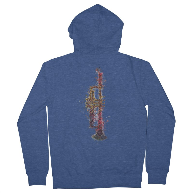 Trombone Women's French Terry Zip-Up Hoody by jbjart Artist Shop