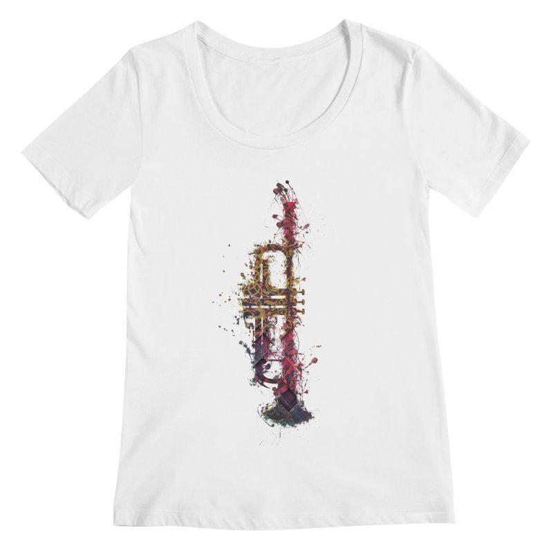 Trombone Women's Regular Scoop Neck by jbjart Artist Shop
