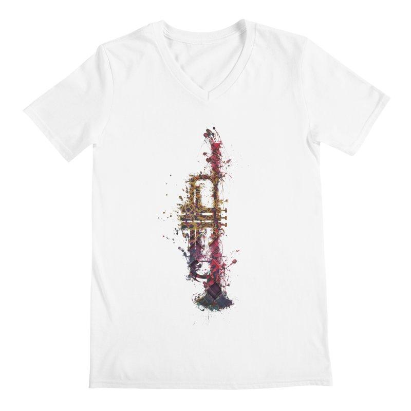 Trombone Men's V-Neck by jbjart Artist Shop