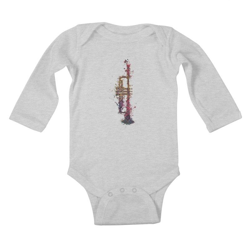 Trombone Kids Baby Longsleeve Bodysuit by jbjart Artist Shop