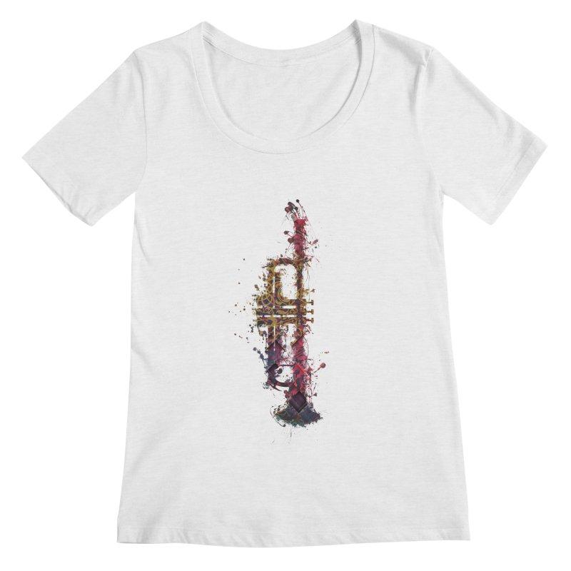 Trombone Women's Regular Scoop Neck by jbjart Artist Shop