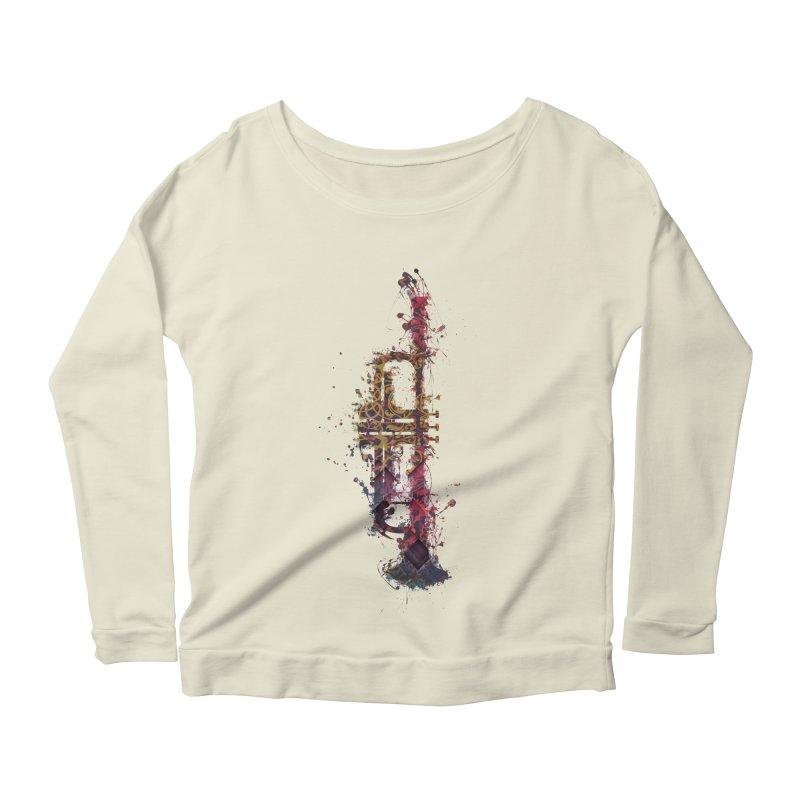 Trombone Women's Scoop Neck Longsleeve T-Shirt by jbjart Artist Shop