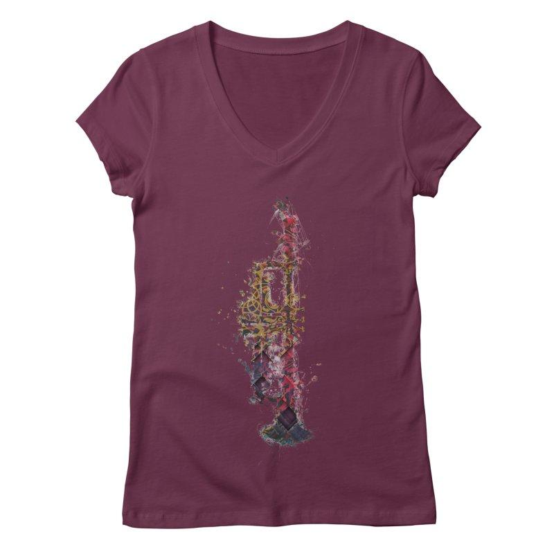 Trombone Women's Regular V-Neck by jbjart Artist Shop