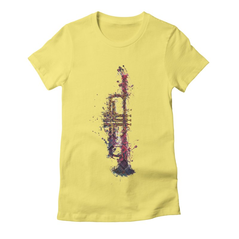 Trombone Women's Fitted T-Shirt by jbjart Artist Shop