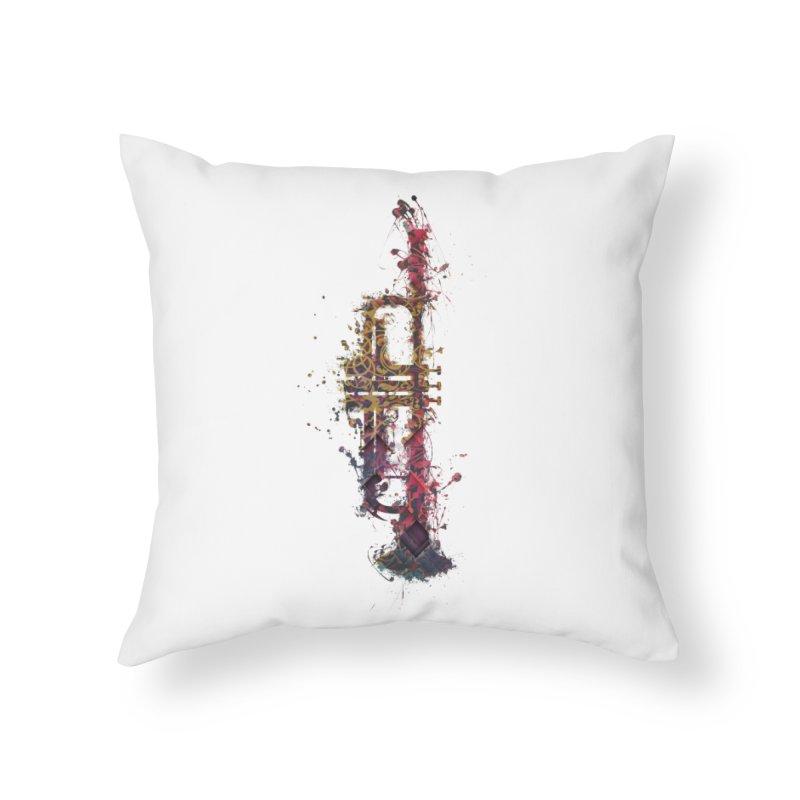 Trombone Home Throw Pillow by jbjart Artist Shop