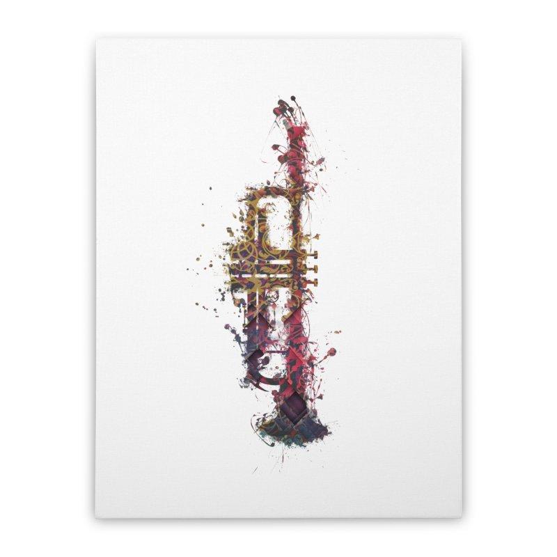Trombone Home Stretched Canvas by jbjart Artist Shop