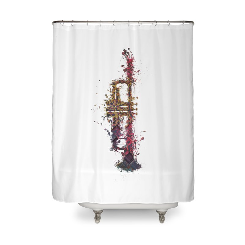 Trombone Home Shower Curtain by jbjart Artist Shop