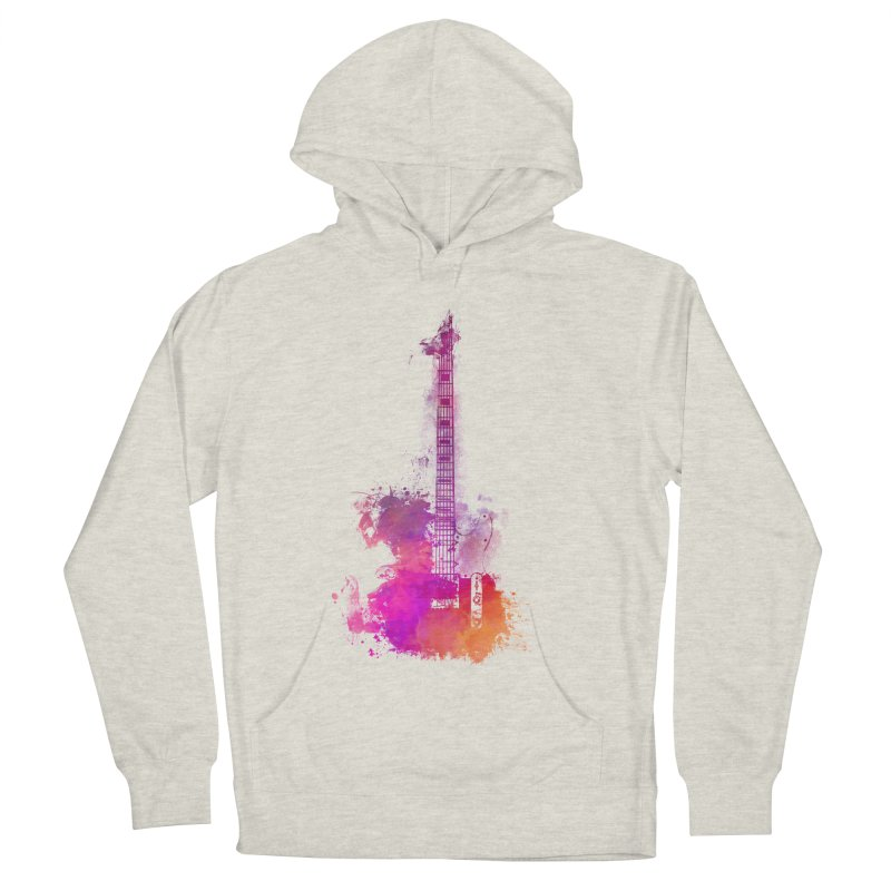 Guitar pink Women's French Terry Pullover Hoody by jbjart Artist Shop