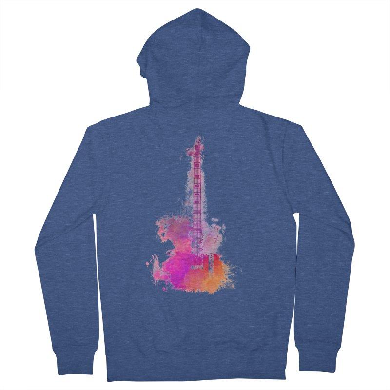 Guitar pink Men's Zip-Up Hoody by jbjart Artist Shop