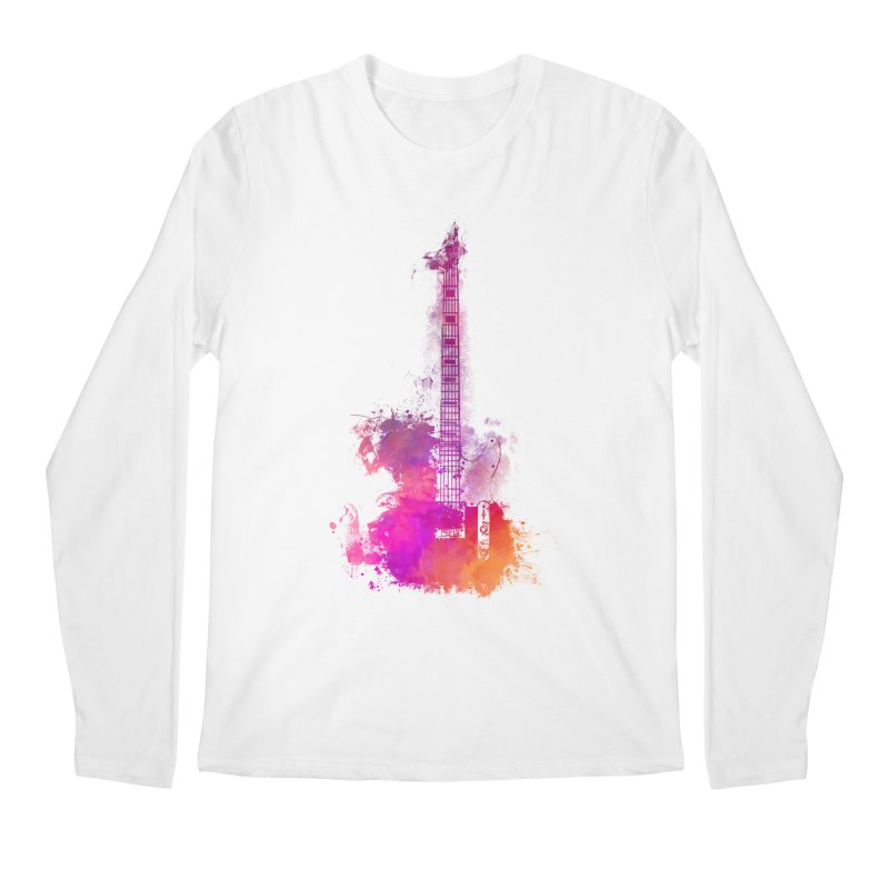Guitar pink Men's Regular Longsleeve T-Shirt by jbjart Artist Shop