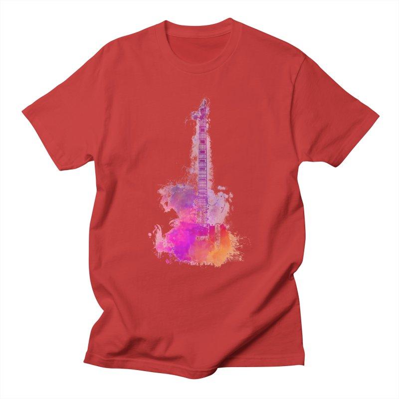 Guitar pink Men's T-Shirt by jbjart Artist Shop
