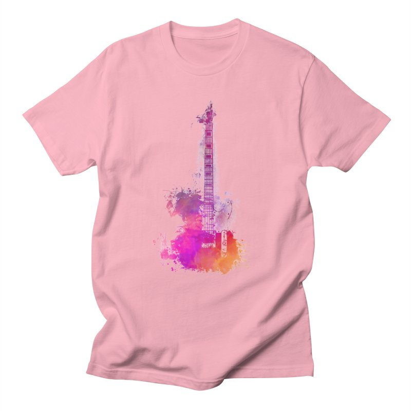 Guitar pink Men's T-Shirt by jbjart Artist Shop