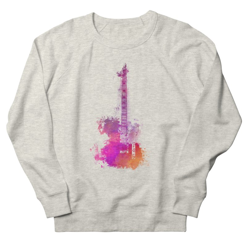 Guitar pink Women's French Terry Sweatshirt by jbjart Artist Shop