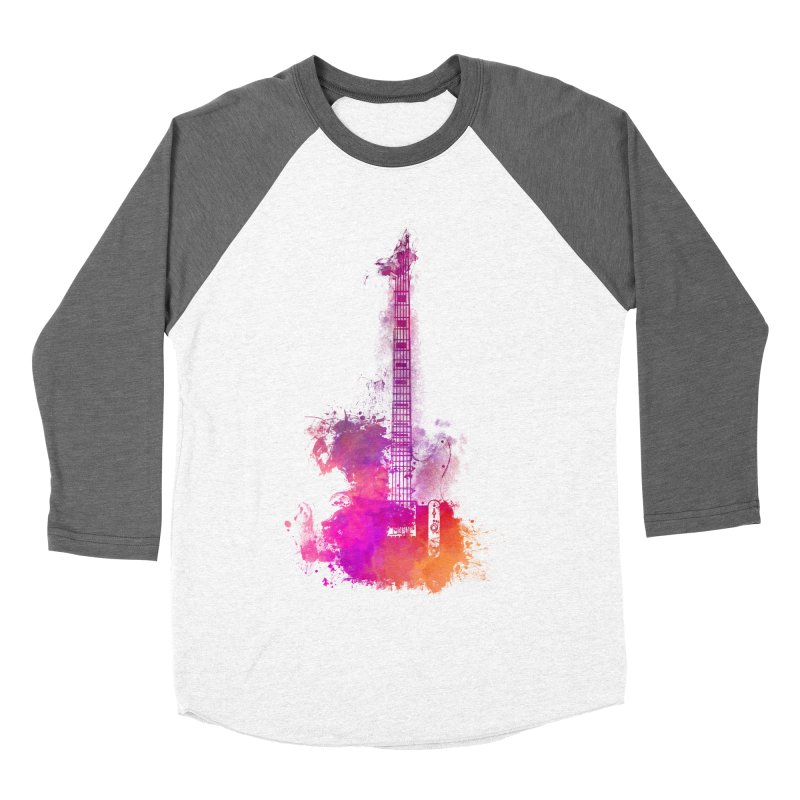 Guitar pink Women's Baseball Triblend Longsleeve T-Shirt by jbjart Artist Shop