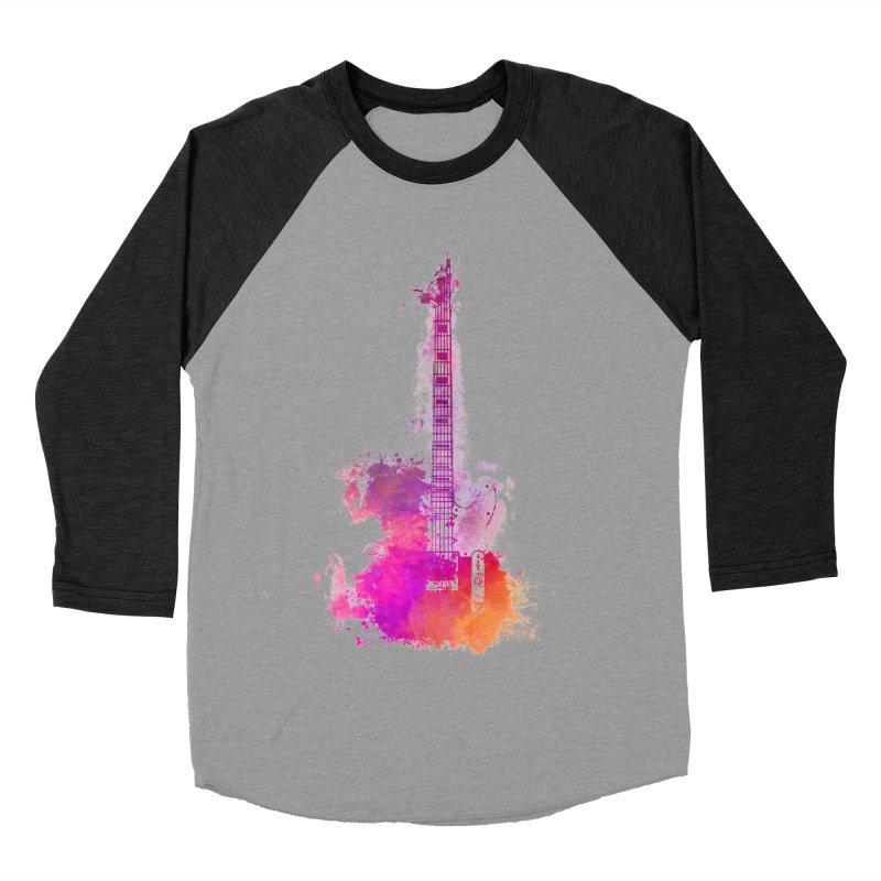 Guitar pink Men's Baseball Triblend Longsleeve T-Shirt by jbjart Artist Shop