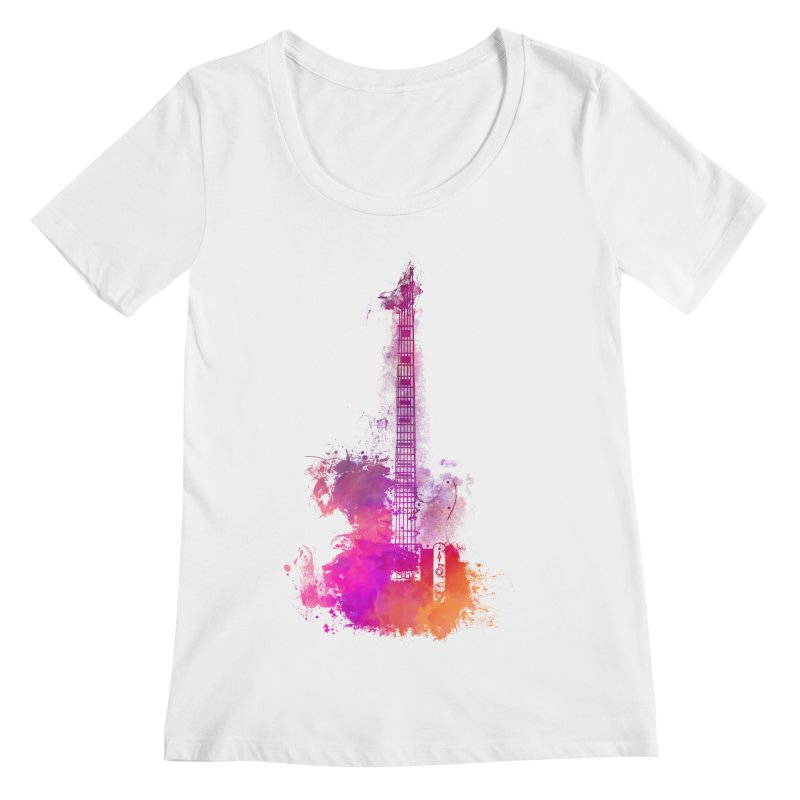 Guitar pink Women's Regular Scoop Neck by jbjart Artist Shop
