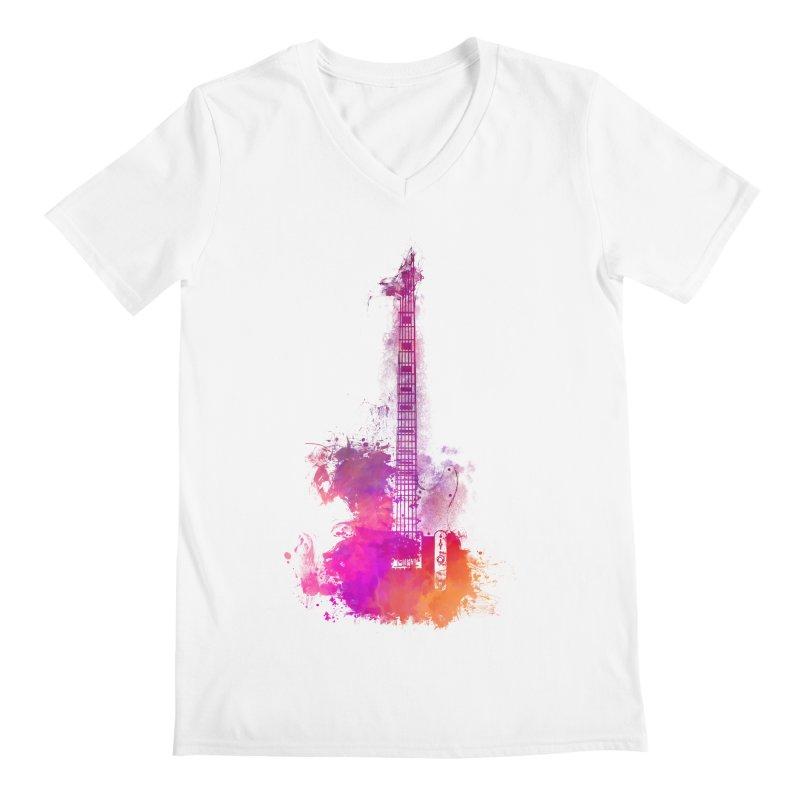 Guitar pink Men's V-Neck by jbjart Artist Shop