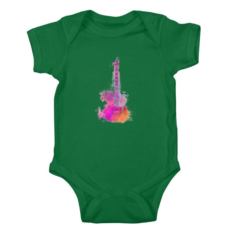 Guitar pink Kids Baby Bodysuit by jbjart Artist Shop
