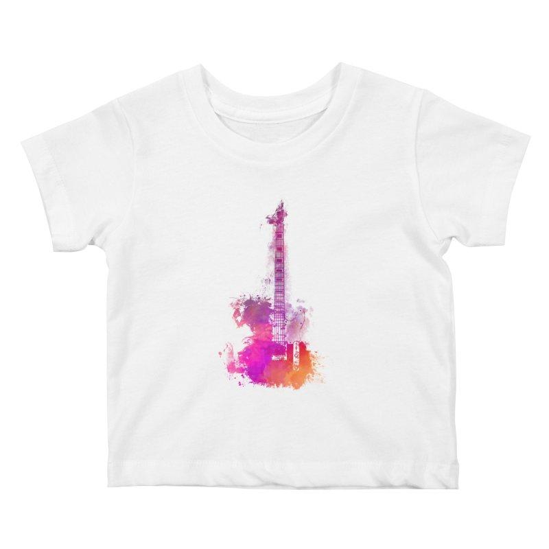 Guitar pink Kids Baby T-Shirt by jbjart Artist Shop