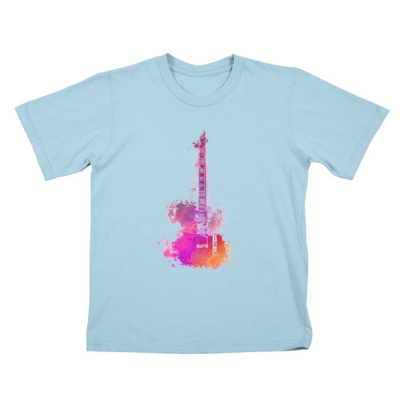 Guitar pink Kids T-Shirt by jbjart Artist Shop