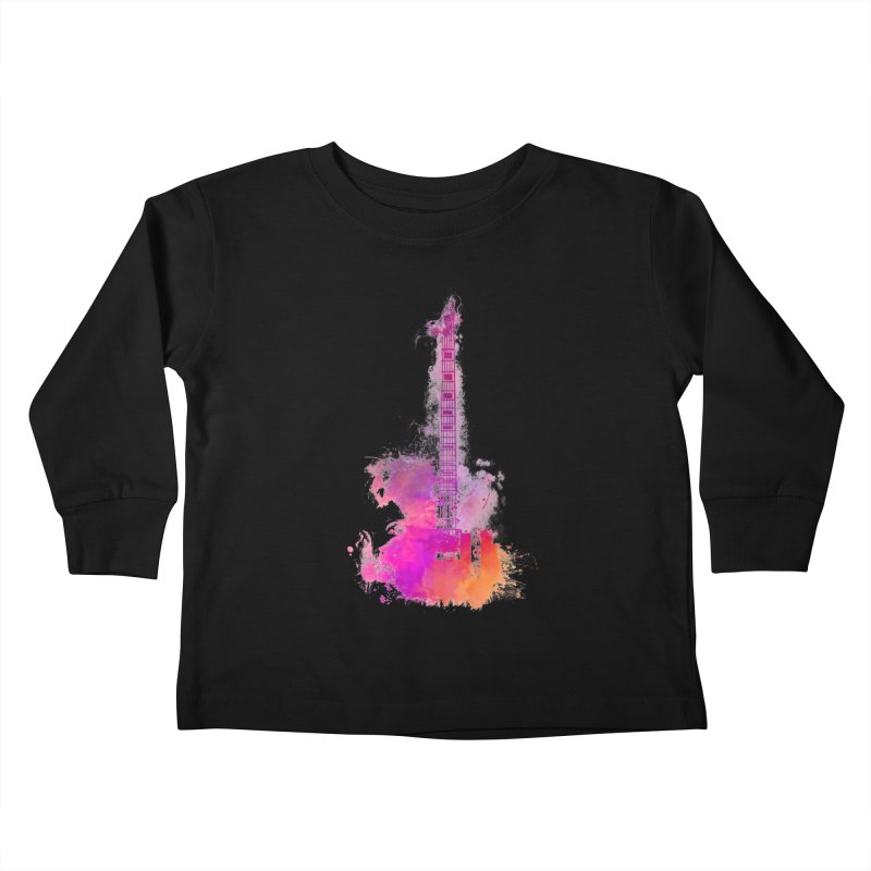 Guitar pink Kids Toddler Longsleeve T-Shirt by jbjart Artist Shop