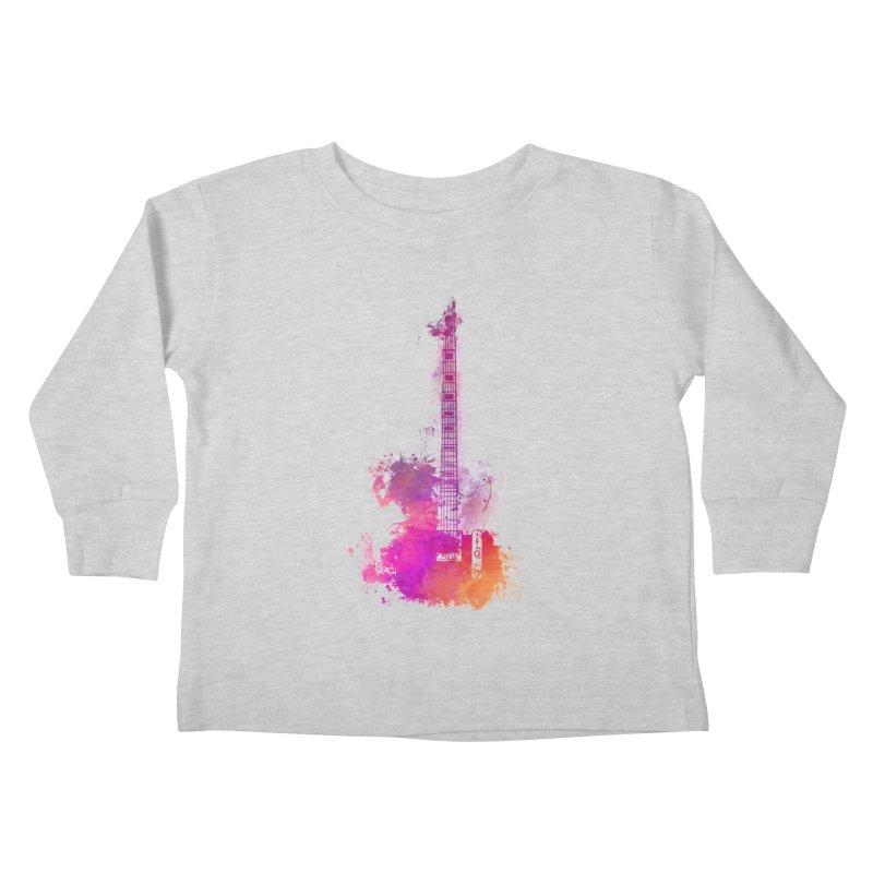 Guitar pink Kids Toddler Longsleeve T-Shirt by jbjart Artist Shop