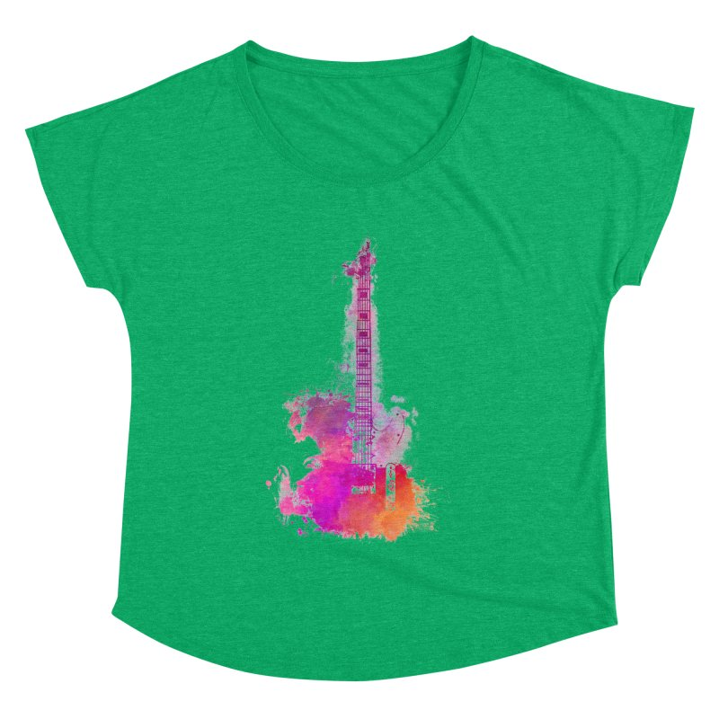Guitar pink Women's Dolman Scoop Neck by jbjart Artist Shop