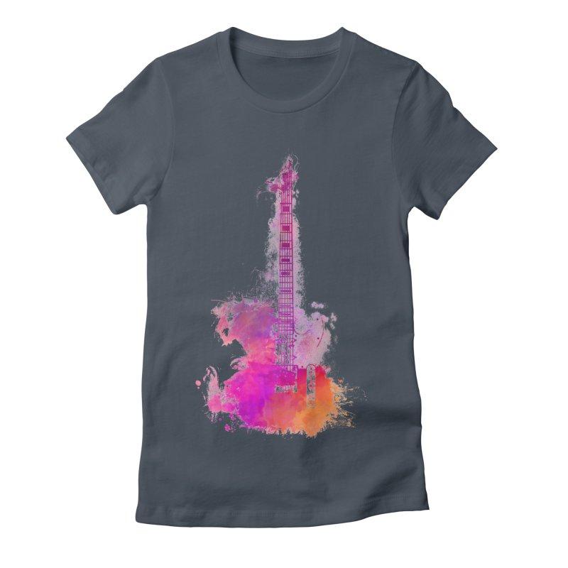 Guitar pink Women's T-Shirt by jbjart Artist Shop