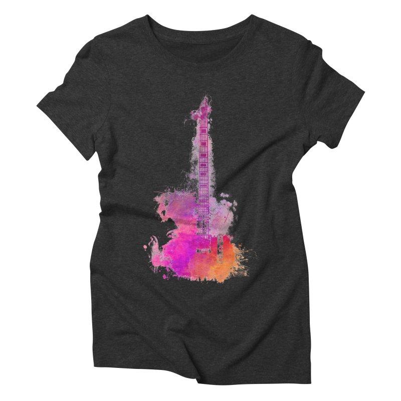 Guitar pink Women's Triblend T-Shirt by jbjart Artist Shop
