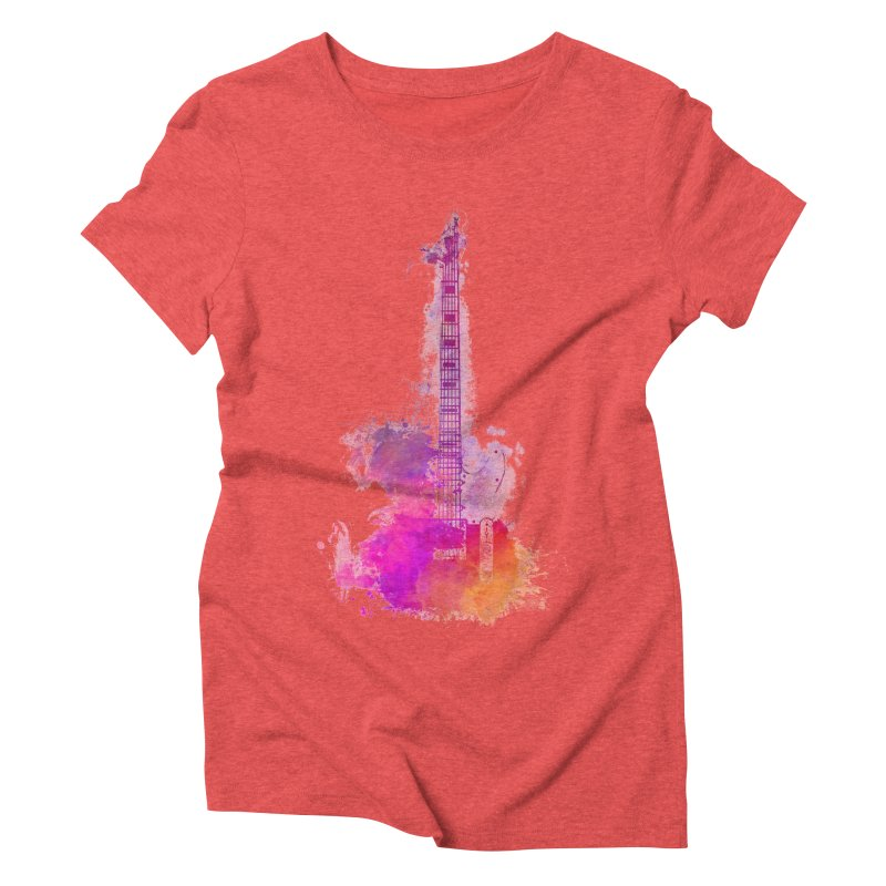 Guitar pink Women's Triblend T-Shirt by jbjart Artist Shop