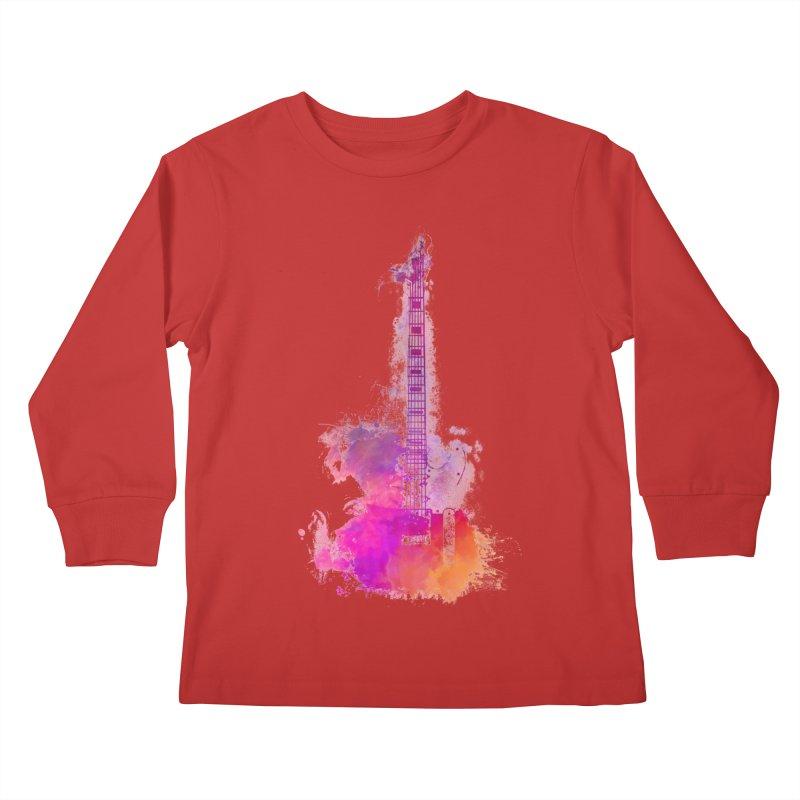 Guitar pink Kids Longsleeve T-Shirt by jbjart Artist Shop