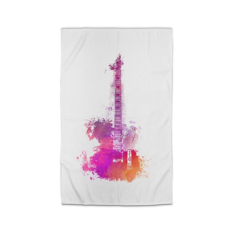 Guitar pink Home Rug by jbjart Artist Shop