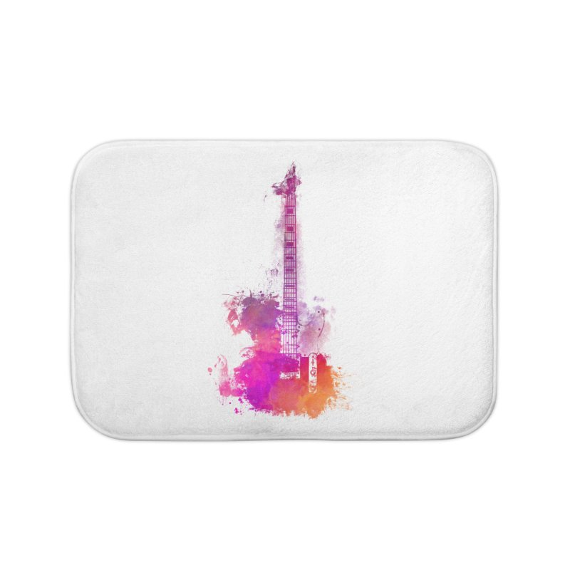 Guitar pink Home Bath Mat by jbjart Artist Shop