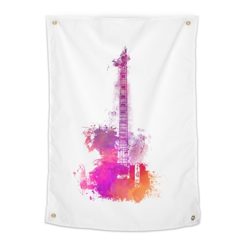 Guitar pink Home Tapestry by jbjart Artist Shop