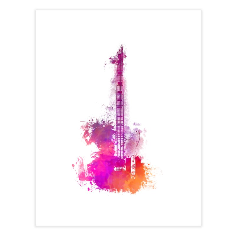 Guitar pink Home Fine Art Print by jbjart Artist Shop