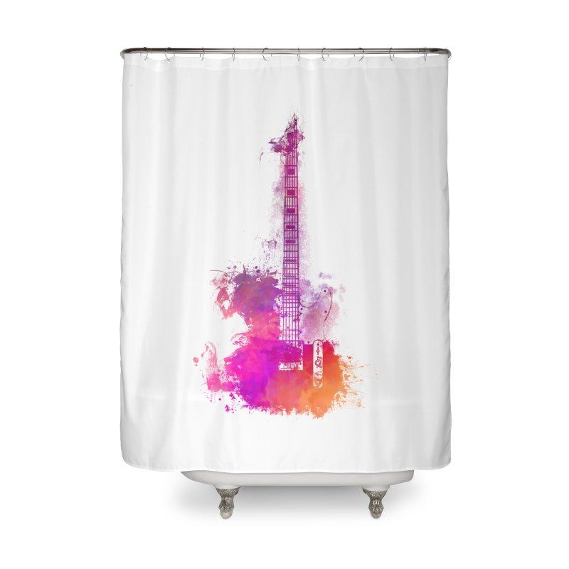 Guitar pink Home Shower Curtain by jbjart Artist Shop