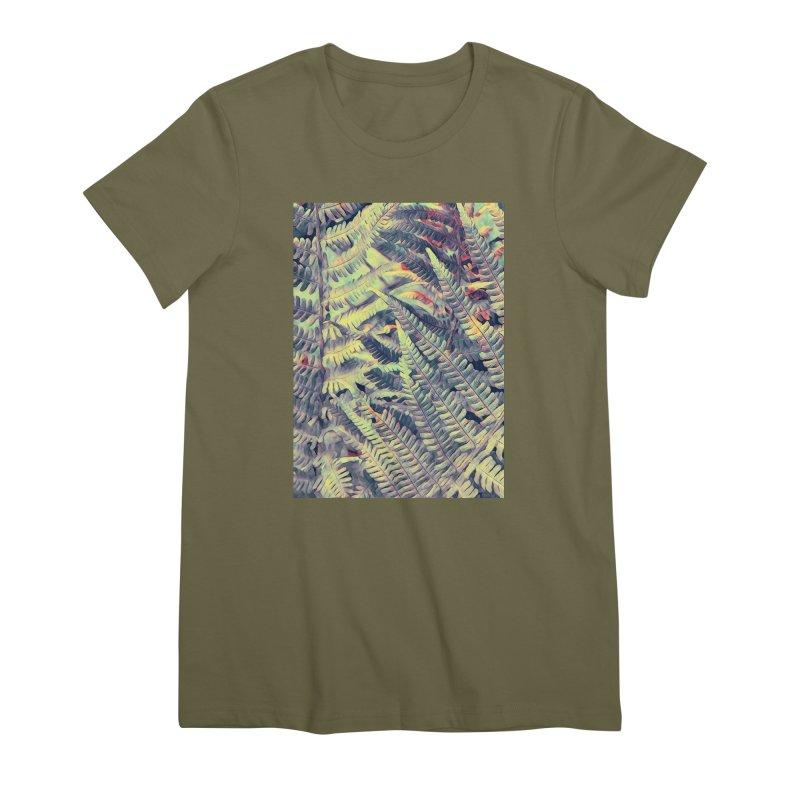 ferns flora art Women's Premium T-Shirt by jbjart Artist Shop