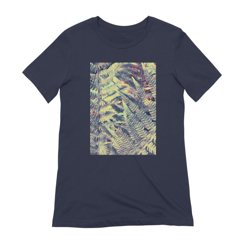 ferns flora art Women's Extra Soft T-Shirt by jbjart Artist Shop