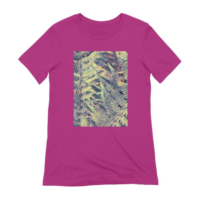 ferns flora art Women's Extra Soft T-Shirt by jbjart Artist Shop