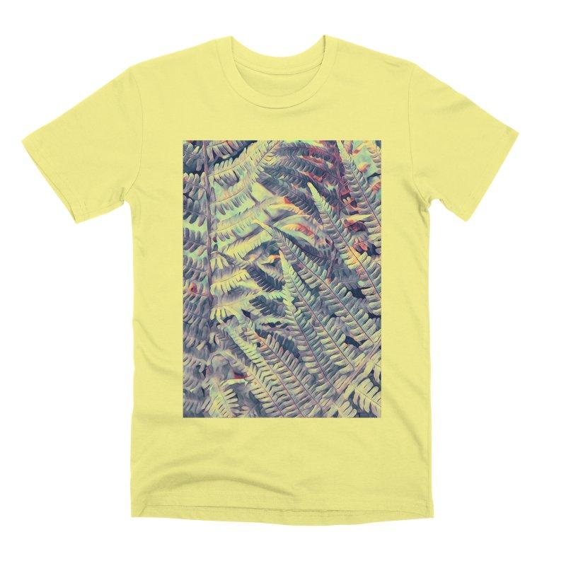 ferns flora art Men's Premium T-Shirt by jbjart Artist Shop