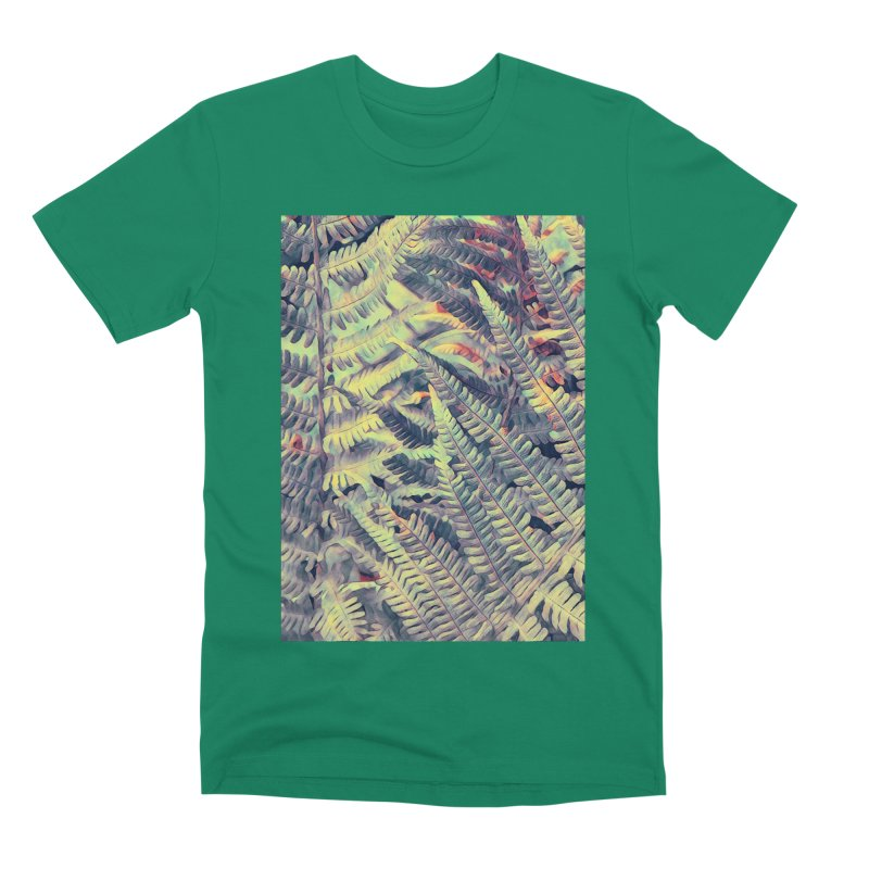 ferns flora art Men's Premium T-Shirt by jbjart Artist Shop