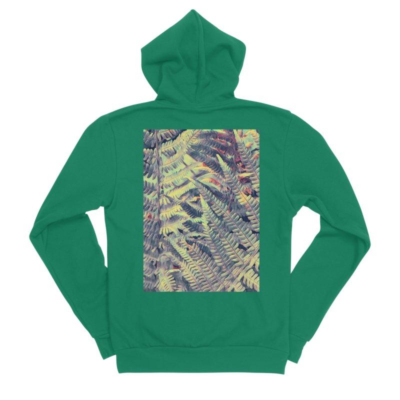 ferns flora art Men's Sponge Fleece Zip-Up Hoody by jbjart Artist Shop