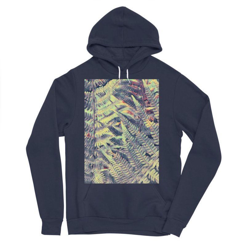 ferns flora art Men's Sponge Fleece Pullover Hoody by jbjart Artist Shop