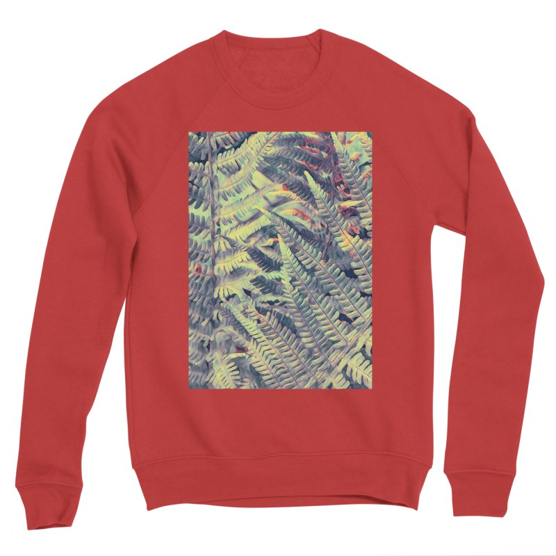 ferns flora art Men's Sponge Fleece Sweatshirt by jbjart Artist Shop