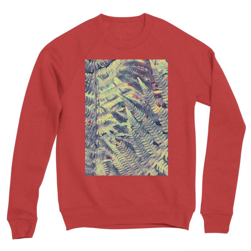 ferns flora art Women's Sponge Fleece Sweatshirt by jbjart Artist Shop