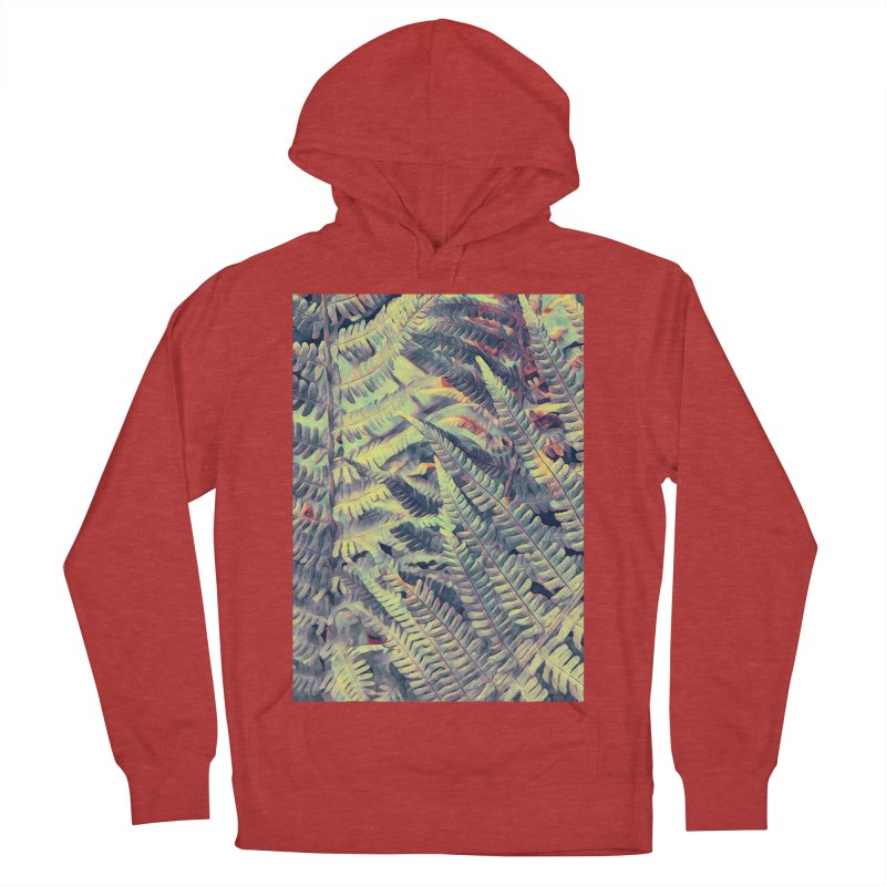 ferns flora art Men's French Terry Pullover Hoody by jbjart Artist Shop