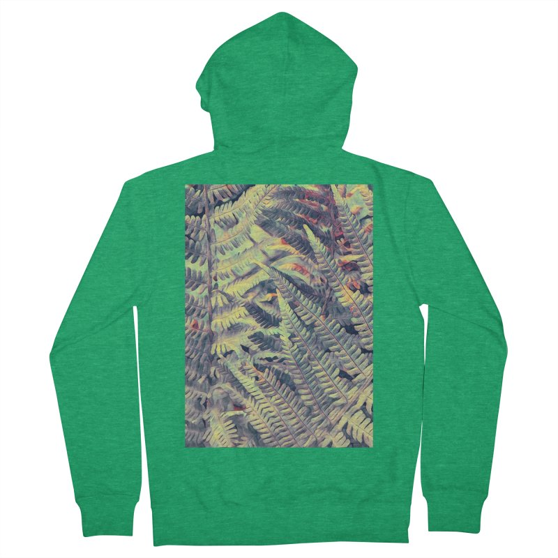 ferns flora art Women's Zip-Up Hoody by jbjart Artist Shop